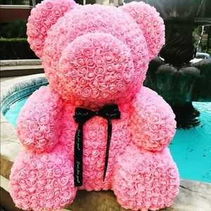 Other - Bear of rose artificial foam rose teddy gift decor